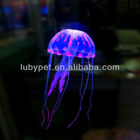 Silicone Artificial Jellyfish Decoration for Small Tank or Aquarium