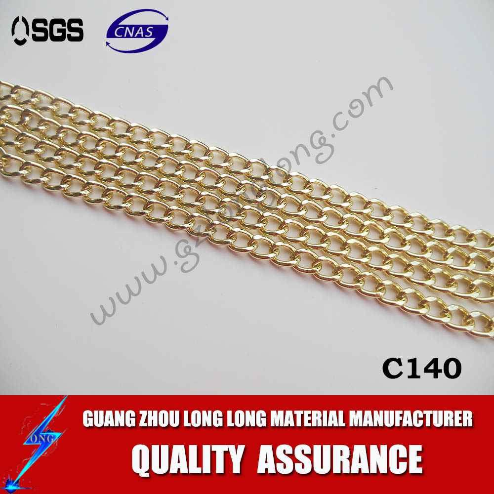 Manufacturer bulk metal LIGHT GOLD chain decorative chain