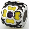 high quality flower slider beads jewelry finding beads