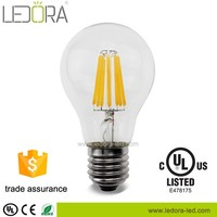 High Ra>90 100lm/w base e27 b22 led filament bulb, high brightness 2w 4w 6w 8w Led Flimentary Edison the Lamp