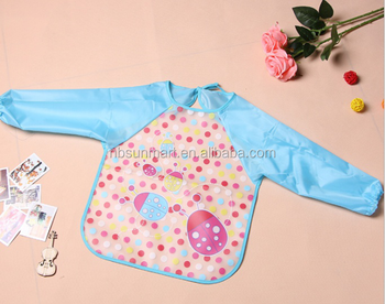 high quality EVA cartoon baby bib waterproof overall vesture