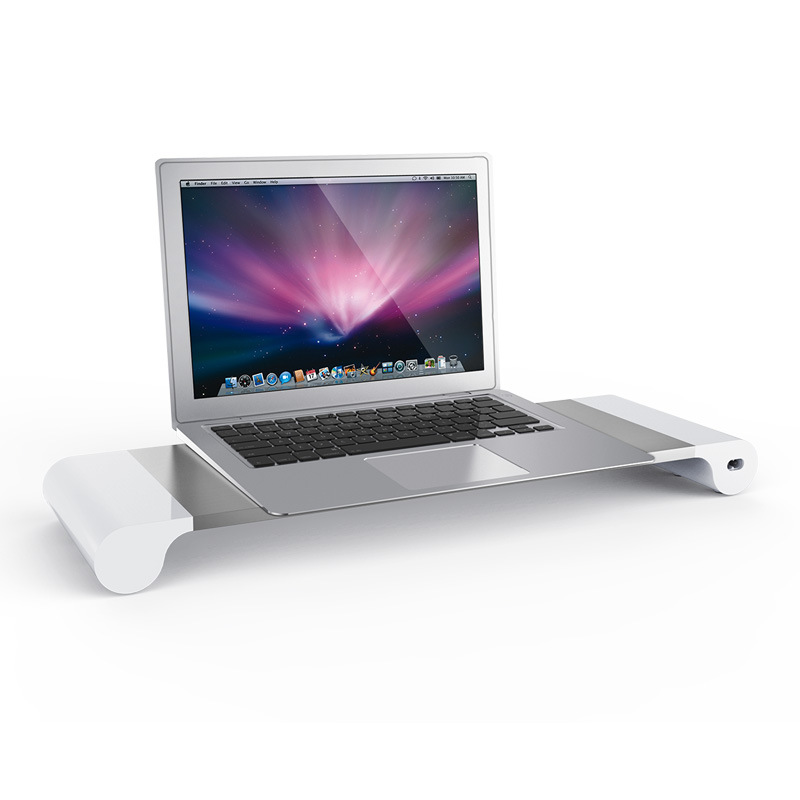 High end metal Laptop stand with 4 ports usb hub