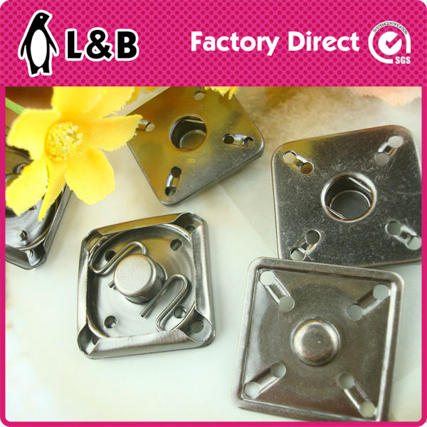 square metal press snap fastener with high quality