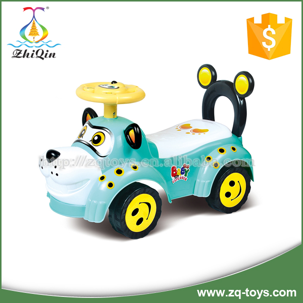 Funny plastic ride on toy car for kids