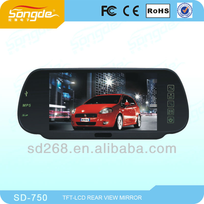 Very cheap 7'' rearview mirror with touch button with Bluetooth
