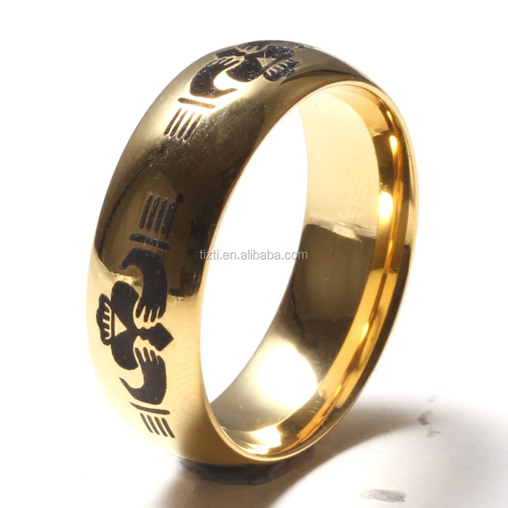 custom unique tungsten wedding bands gold plated tungsten