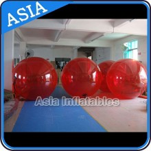 Good Quality 2m Red Color Inflatable Water Walking Ball 0.8MM PVC For Kids and Adults