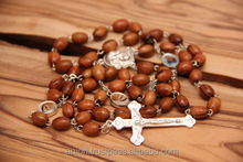 Olive Wood Rosary & Cross