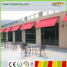 Outdoor alumunim drop arm window awnings for home