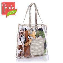 Cheap PVC Tote Bag Promotional Clear Plastic Beach Bag