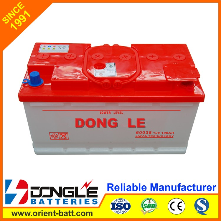 DONG LE 60038 Ultra High Quality Car Power price of dry battery