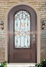 Arched Wrought Iron Single Door
