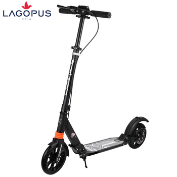 Adult scooter two-wheel aluminum alloy two-wheel collapsible travel non-electric sports scooter