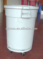 128L plastic buckets with wheels