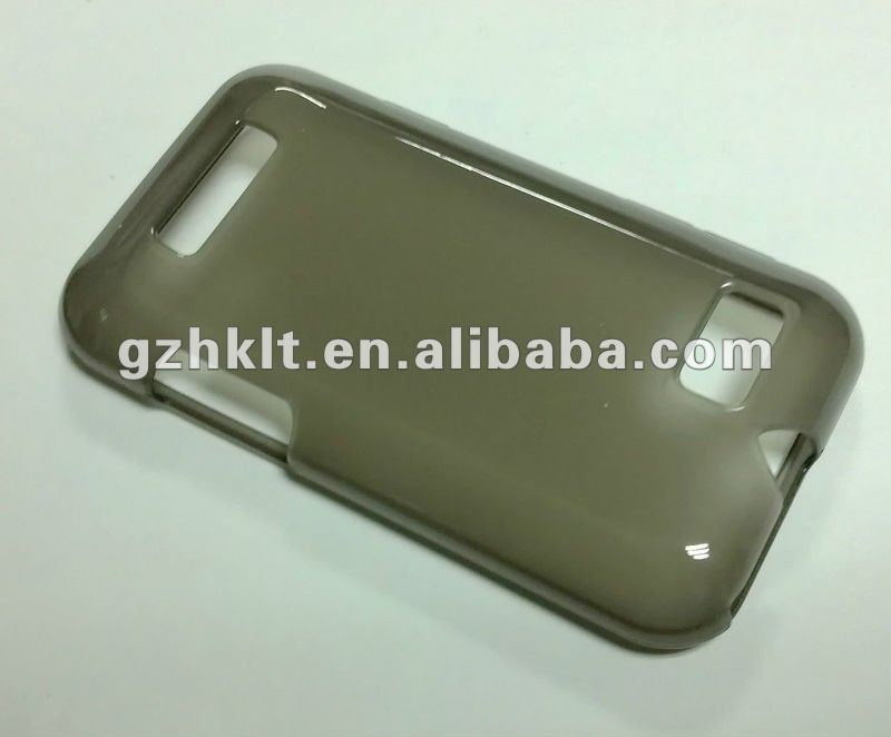 Translucent soft tpu gel case for Motorola XT320/Defy mini