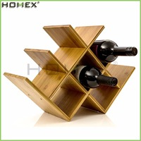 Bamboo Wine Bottle Rack/Wall Mounted Wine Glass Holder/Homex_FSC/BSCI Factory