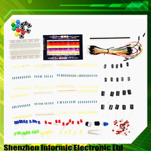 Electronic Starter Kit for Arduino Resistor Buzzer Breadboard LED Dupont cable with plastic box