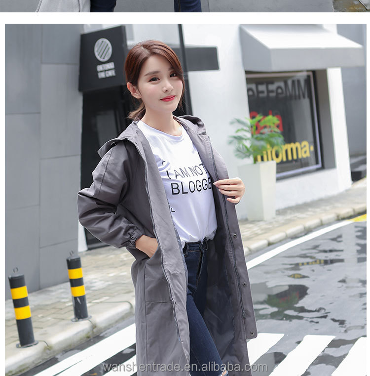 Trendy Large Size Casual Overknee Loose Autumn Winter Cotton Coat for Women 3 Colors