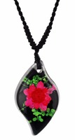 Beautiful Real flower jewelry necklace for girl