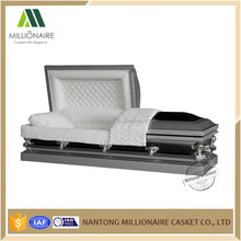 Cheap steel caskets with velvet lining