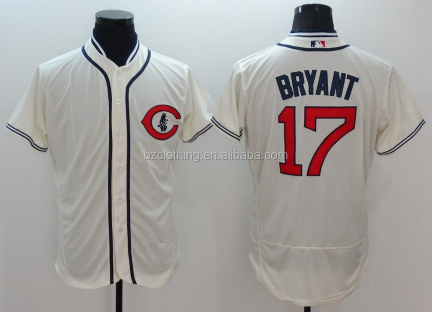Men's Chicago Cubs Kris Bryant #17 Cream 1929 Turn Back Throwback Flex Base Jersey
