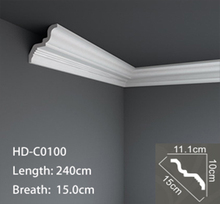 High quality polyurethane moulding HD-C01792 Free Sample Interior Decoration Custom pu Ceiling Cornice