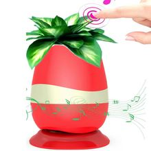 Cute Wireless Creative Sing Music Flower Pot Flowerpot Speaker