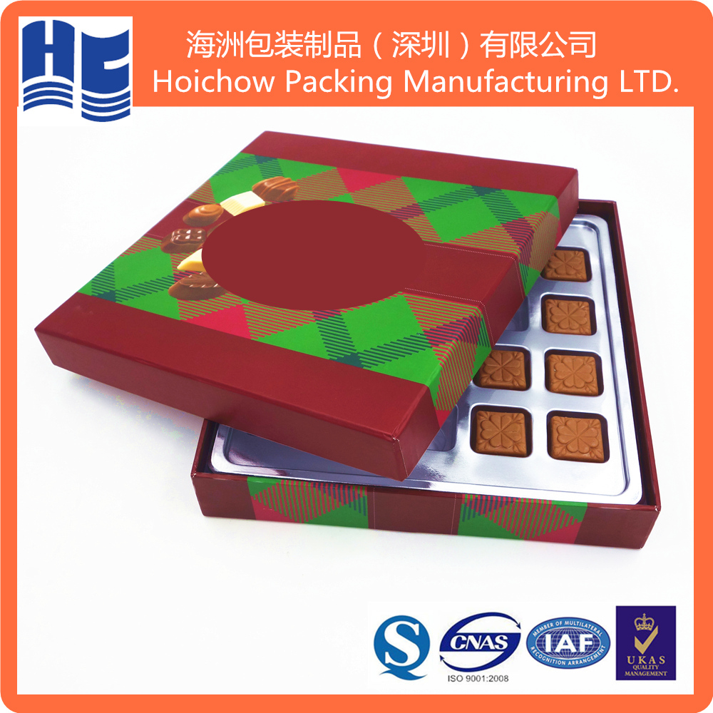 Brand Name Food Grade Clamshell PP Clear Chocolate Blister folding box packaging