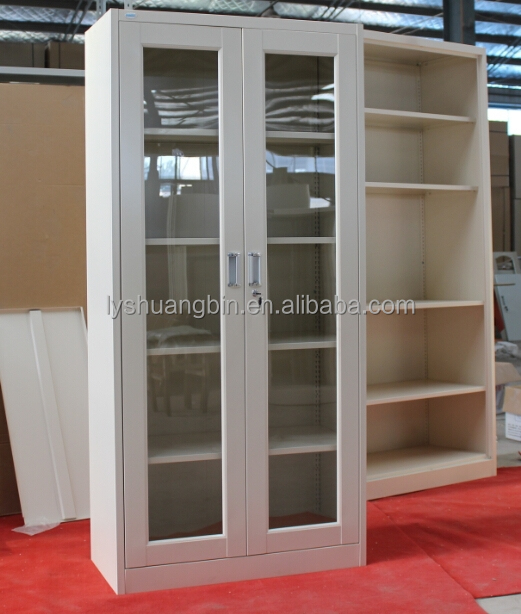 Glass door full high metal knock down wall cabinets