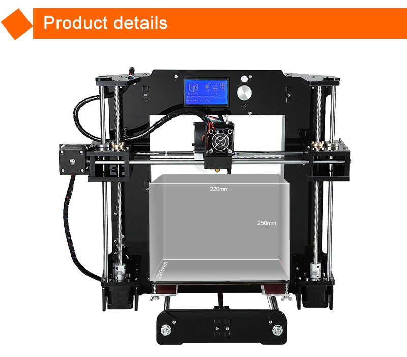 Affordable Anet A6 prusa i3 high precision acrylic diy 3d printer for sale