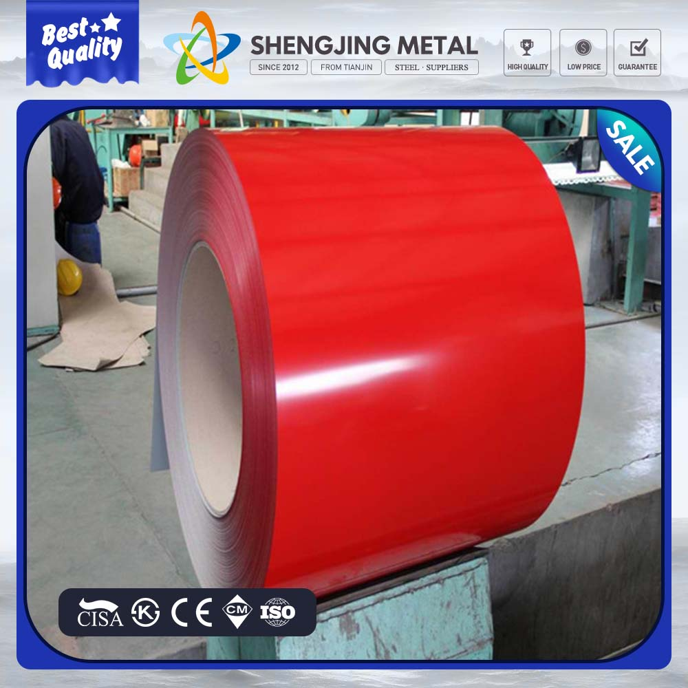 Waterproof wood grain printed PPGI / PPGL steel in coil for building material