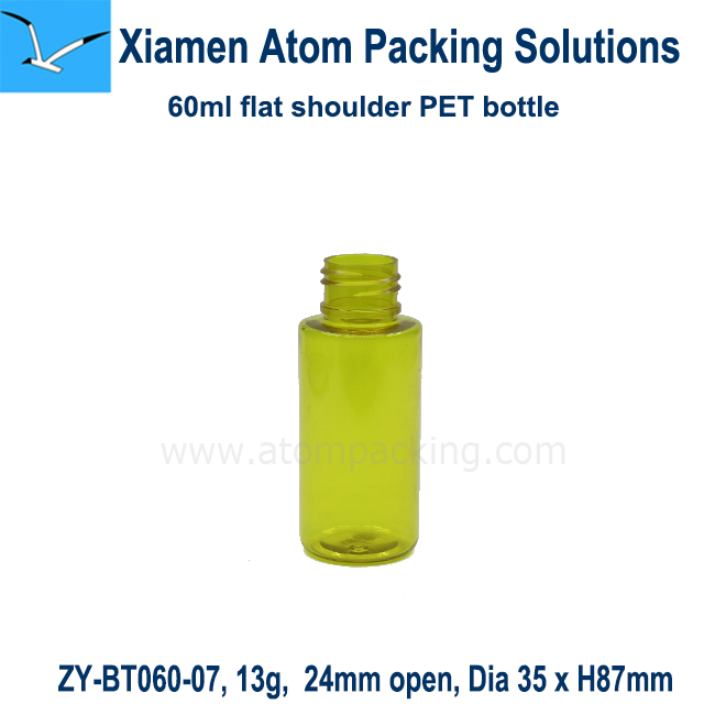 60 ml ( 2 Oz) Cylinder shape Green PET Bottle <strong>W</strong> / Sprayer for Hair Mist