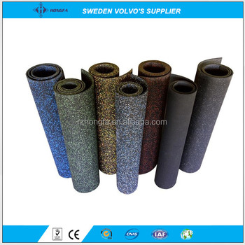 High Quality 6mm Thick Gym Rubber Flooring Roll