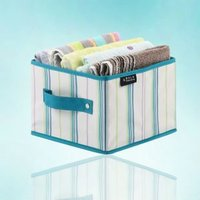 foldable storage container, cute fabric bin without lid