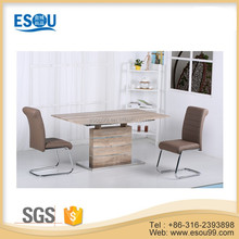 High Gloss White Modern Glass Table Dining Room Furniture