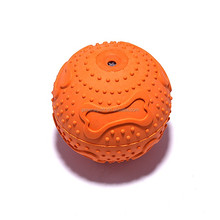 rubber squeaky dog toy ball with teeth dog toy thrower