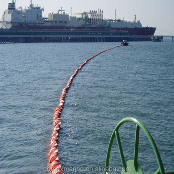 inflatable rubber/pvc oil boom oil fence