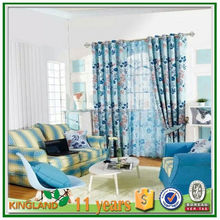luxury polyester blackout home jacquard window curtain /eyelet window curtain design