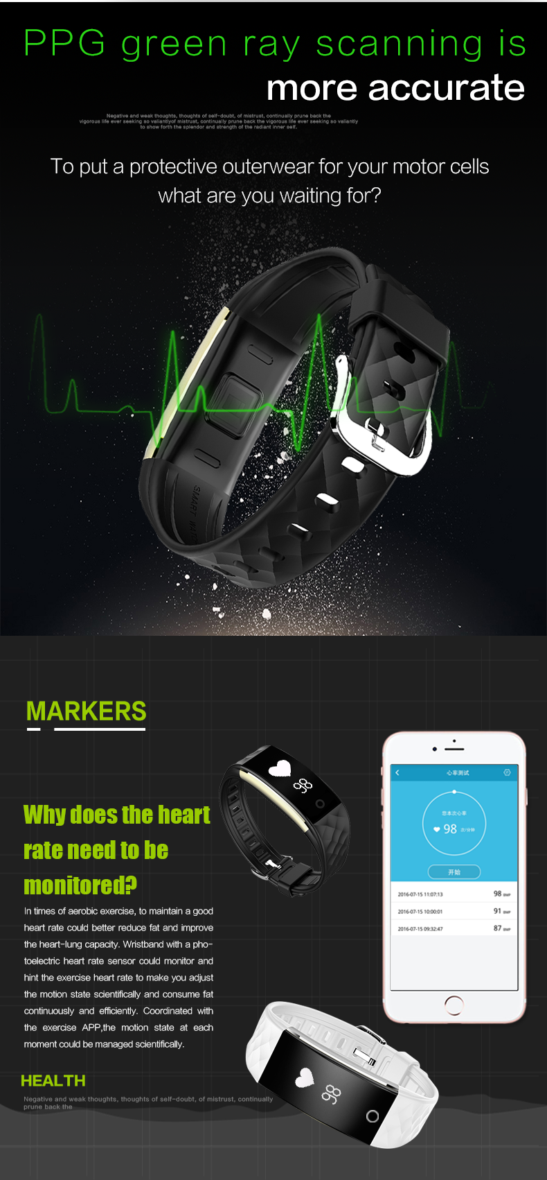 ODMOEM factory Fitness Tracker with Heart Rate Monitor,IP67 Waterproof Smart Bracelet (7).png