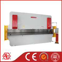 WC67K-250/6000 nc hydraulic bending machine, hydraulic press brake with auto control for sheet metal bending
