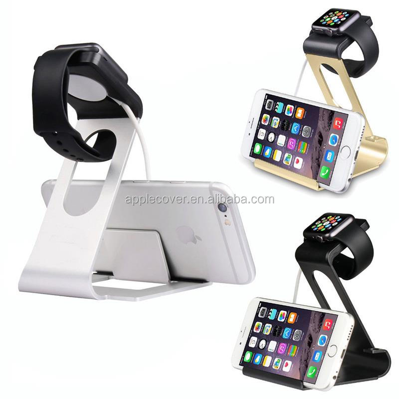 New Arrival !!! Luruxy Aluminum Dock Holder Charging Stand For Apple Watch&iPhone