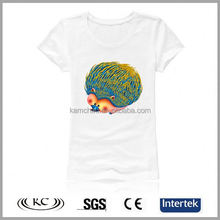 best selling trendy Woman white 2013 short sleeves t shirt