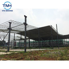 low cost prefab house steel structure workshop myanmar
