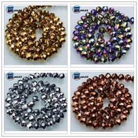Indian Hotsale 4mm Golden Glass Beads