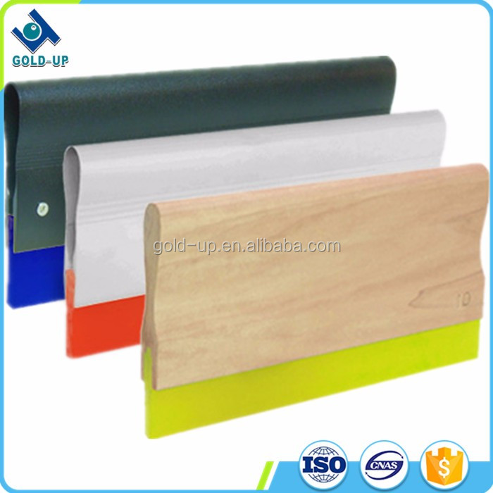 top quality wooden rubber handle used in screen printing industry