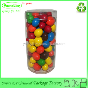 Customized clear cylinder plastic box for candy