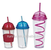 novelty plastic drinking straw cups