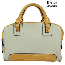 2014 beige yellow pu tote bamboo fashion latest ladies handbags fashion handbags 2012