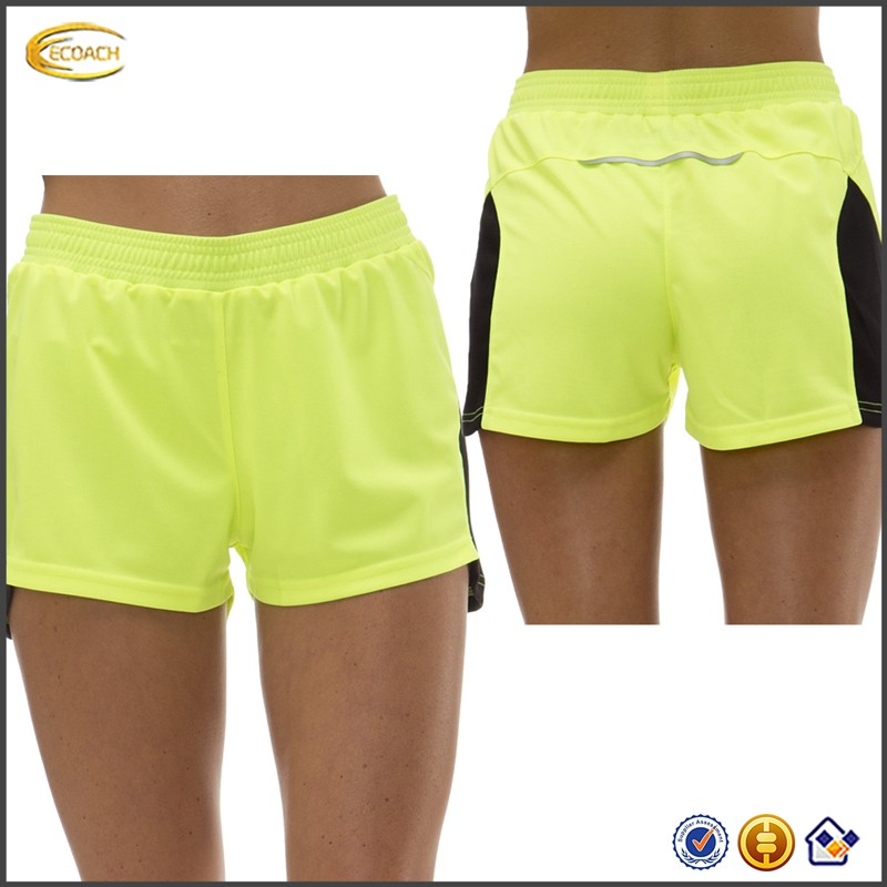 2017 NEW Wholesale OEM Custom Activewear Women Walking Running Sport Shorts Patchwork Design Cycle Gym Short Pants for Girls