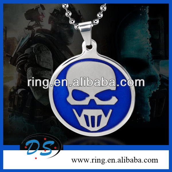 Tom Clancy's Ghost Recon By Inspired Stainless Steel Helmet Tag Pendant Necklace